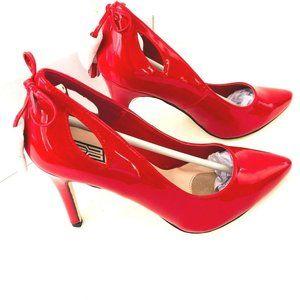 NEW Signature Patent Leather Red Leonie Heels